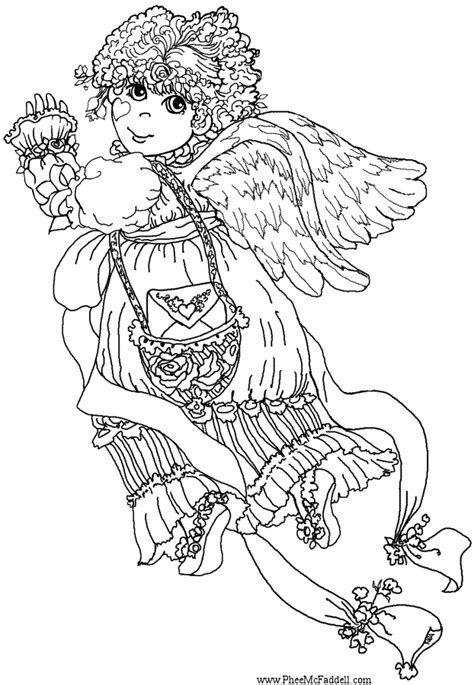 valentine angels coloring pages valentine angel www pheemcfaddell com