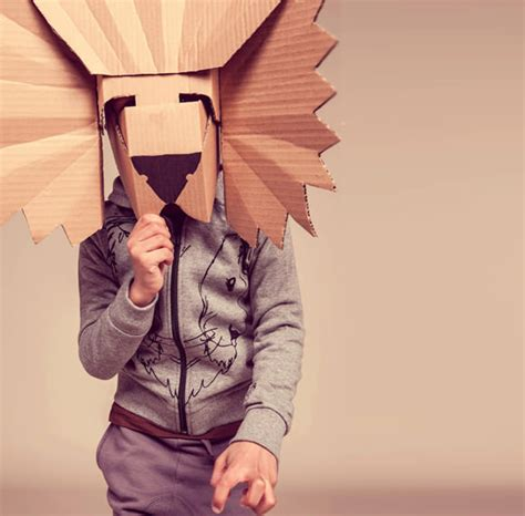10 diy cardboard paper masks for halloween handmade