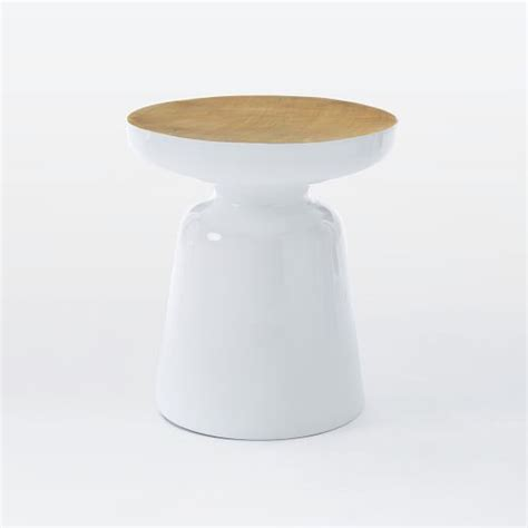 Martini Side Table Martini Two Tone Side Table West Elm