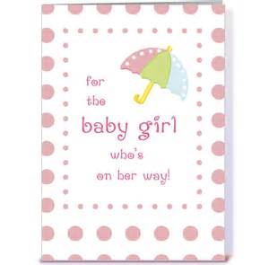 Baby girl shower congratulations greeting card by sandra rose designs