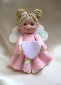 polymer clay christmas angel ornament child by clayqts on etsy