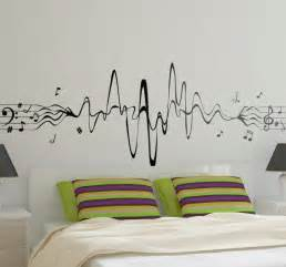 musical notes decor wall sticker tenstickers music our treble clef and