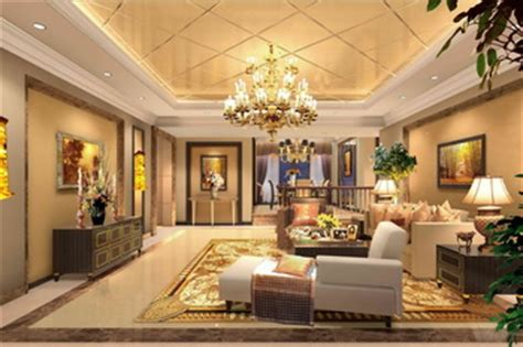 luxury golden extravagance living room 3d model