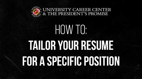 6 tips on how to tailor your resume how to tailor your resume for a specific position