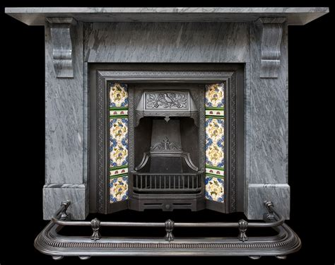 Grey Fireplace Surrounds by Grey Marble Surround