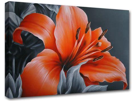 fiori dipinto dipinto di fiore rosso poster adesivo murale sta su