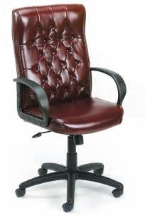 Office Chairs Leather B8501 By High Back Traditional Executive Leather