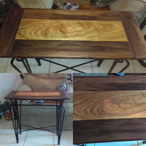 woodworking reddit walnut and canary wood table woodworking