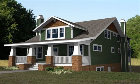 craftsman bungalow home plans 2 story craftsman bungalow house plans second story