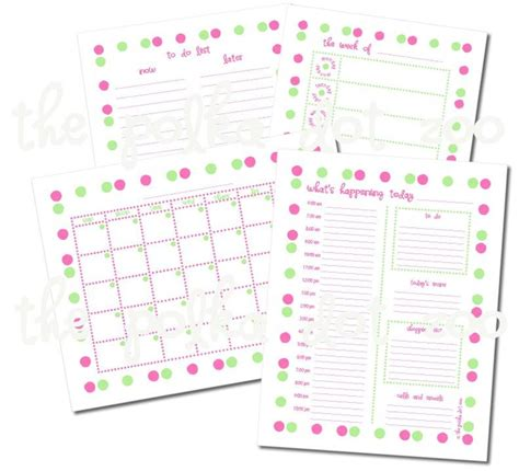 printable monthly calendar with todo list printable to do list kit monthly and weekly calendar