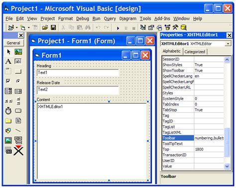 xstandard developer s guide toolbar customization buttons xstandard developer s guide app integration visual basic 6