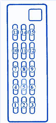 mazda 626 1996 engine fuse box block circuit breaker