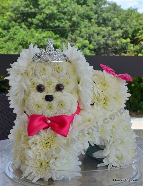 puppy flower arrangement flowertoy princess puppy animal flowers floral arrangements