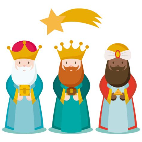 imagenes de los tres reyes magos con sus nombres los 3 reyes magos vector vector clipart