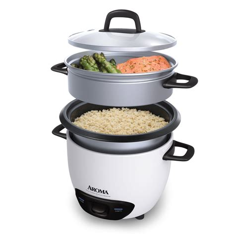 best rice steamer aroma white 6 cup pot style rice cooker and food steamer
