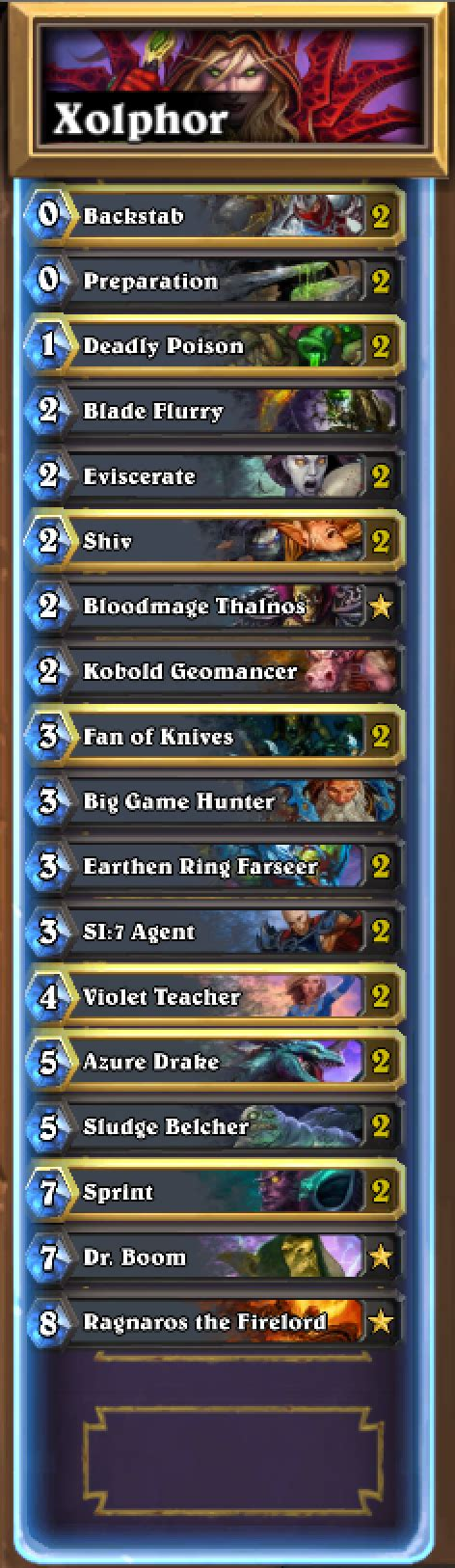 rogue deck beginner current state of rogue competitivehs
