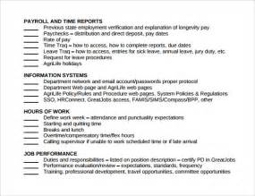 standard checklist template sle checklist 8 exle format