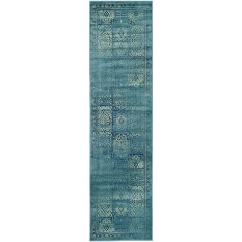 safavieh vintage turquoise multi 8 safavieh vintage turquoise multi 2 ft 2 in x 8 ft runner vtg127 2220 28 the home depot