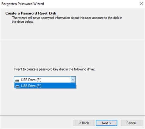 windows password reset in usb how to create windows 10 password reset usb