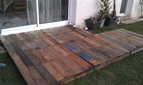 temporary winter quot palette quot or pallet deck projects i