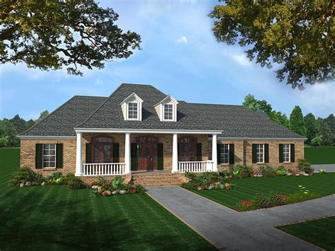 colonial country southern house plan colonial country european southern house plan 59075