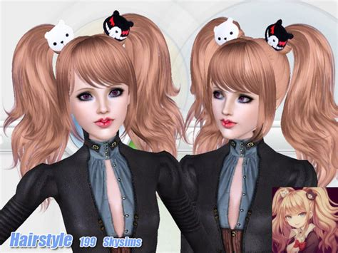 sims 4 anime hair cc skysims hair adult 199
