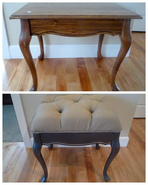 coffee table into a bench old ruined table sitting around fix it up and make a