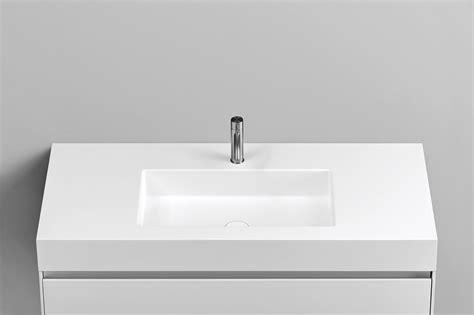 lavabo in corian top in corian 174 con lavabo rettangolare