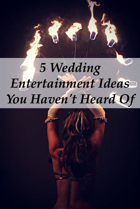 Wedding Entertainment by Five Wedding Entertainment Ideas