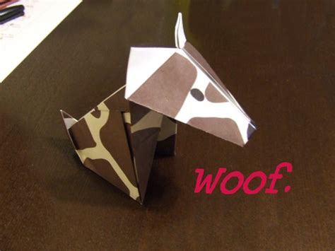 Origami Bulldog - origami kirinjirafa s