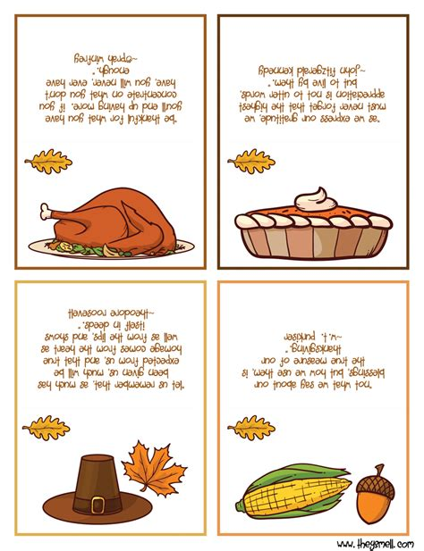 printable thanksgiving cards thanksgiving place cards printable