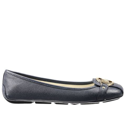 michael kors shoes lyst michael michael kors flat shoes in blue