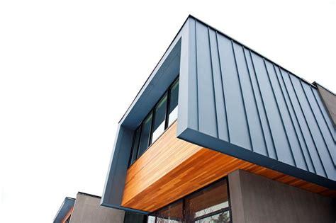 Sustainable Kitchen Design House Incorporating Distinctive Blue Zinc Cladding By