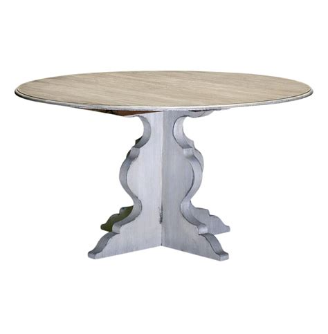 Antique White Dining Table by Antique White Deco Dining Table 54 Quot D Kathy Kuo Home