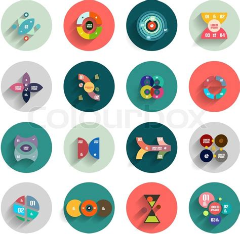 8140617 infographic inside colorful circles flat icon set jpg