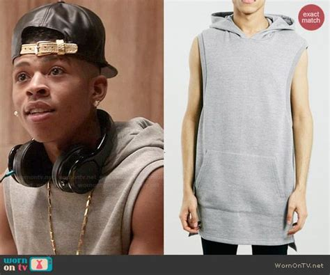 4 of the the most stylish hakeem lyon haircuts from empire hakeem s grey sleeveless hoodie on empire outfit details