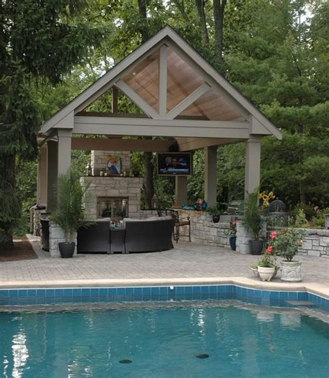 backyard shelter plans project spotlight backyard poolside pavilion