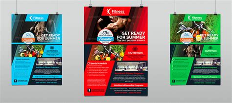 sports gym amp fitness performance flyer hollymolly