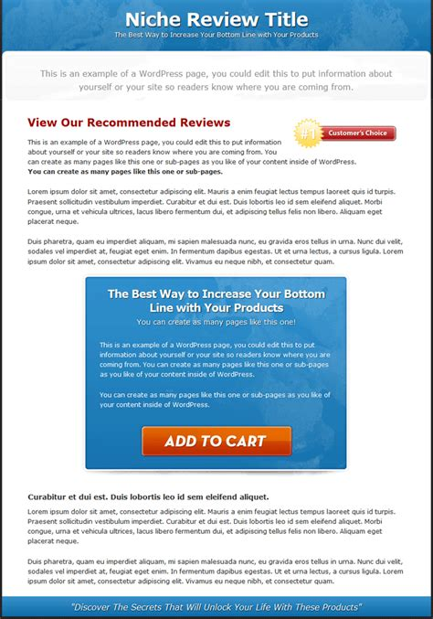Single Product Review Website Templates Mrr Review Website Template Free