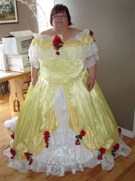pattern for belle s yellow dress yellow victorian southern belle period costume dress 4x 5x