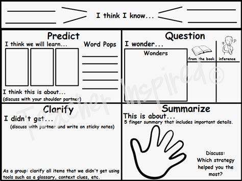 Reciprocal Teaching Worksheet by Inspired Freebies