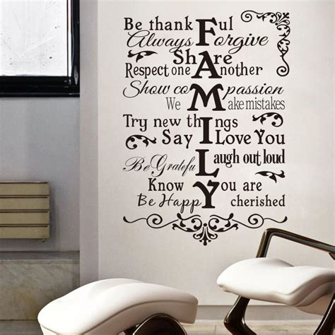 wall stickers quotes family newly design family wall sticker for home decal family