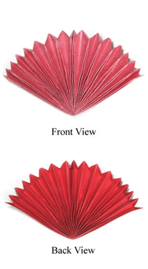 Origami Fan - how to make a peacock origami fan page 1