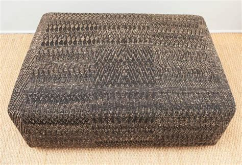 covered ottoman ottoman covered with handwoven indian fabric at 1stdibs