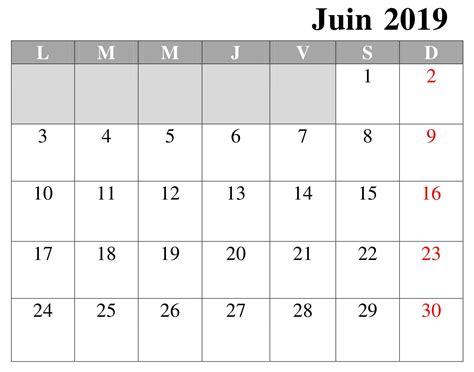 calendrier juin   imprimer
