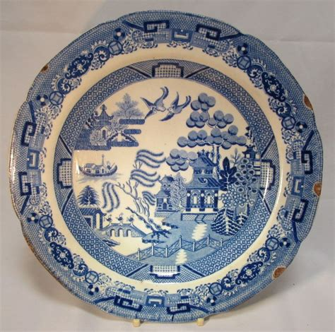 english willow pattern english blue willow plate from thesteffencollection on