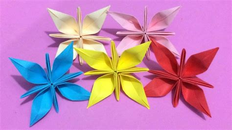 How To Make Colored Paper Flowers - how to make origami flower with color paper diy paper