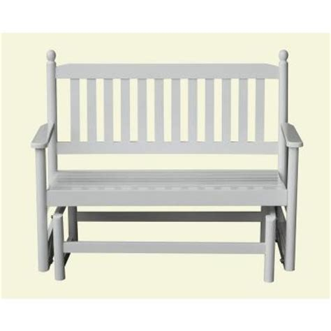 home depot paint glider 2 person white patio glider 204gsw rta the home depot