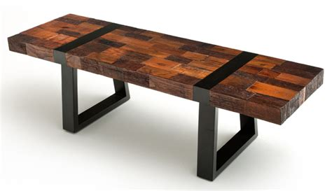 modern rustic bench reclaimed wood woodland creek furniture