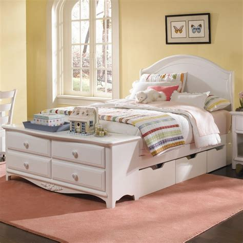 girls bed with drawers full size beds with drawers for girls haley full size